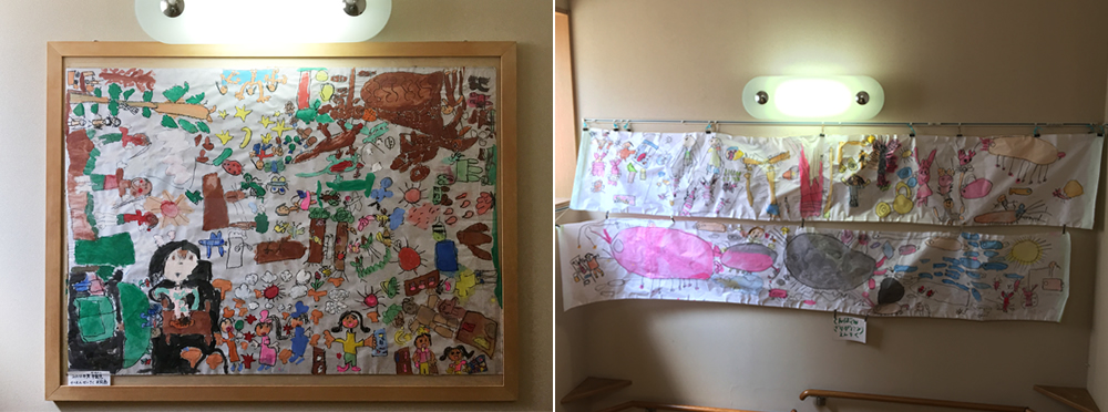 子どもたちの作品展示